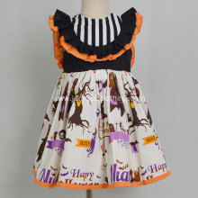 Boutique Halloween Pumpkin Party Baby Girl Dress